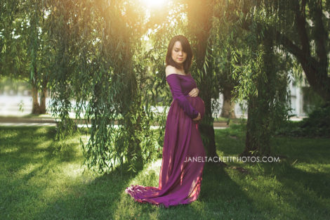 Dreamy maternity photos Utica Square