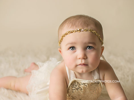 Baby girl in Gold