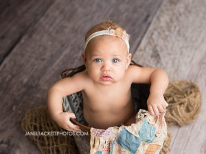 6 month girl photo session