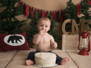 boy first birthday cake smash