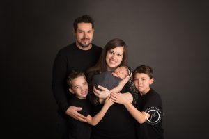 newborn family portrait