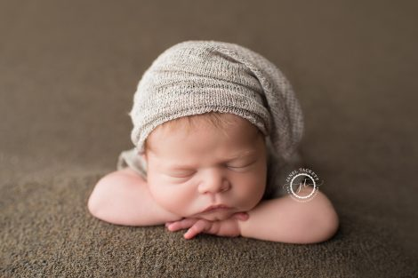 earth tone boy newborn portrait